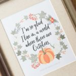 Free Printable Fall Quote from Anne of Green Gables