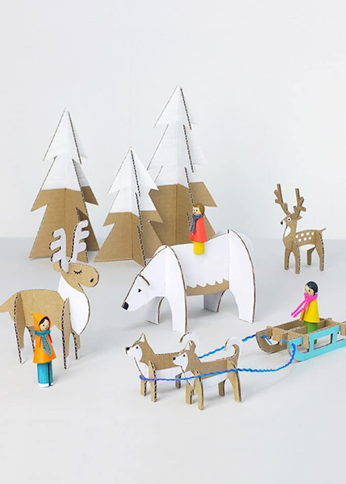 cardboard christmas decorations - Cardboard Christmas Decorations