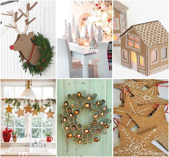 Christmas Diy Decorating Ideas: Cardboard Christmas Decorations