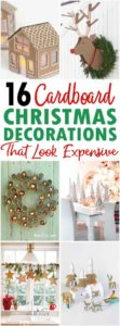 Cardboard Christmas Decorations Pin