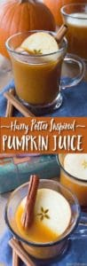 Harry Potter Pumpkin Juice Recipe Pin