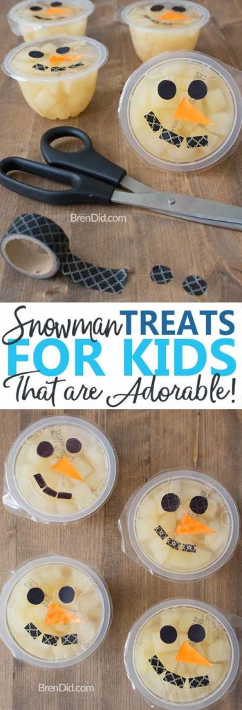 Snowmen Fruit Cups Pin