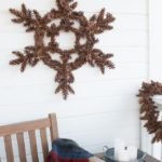How to Make a Pinecone Snowflake Wreath