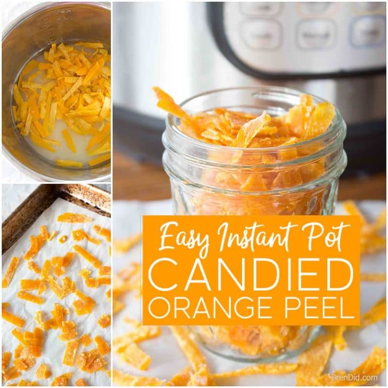 How to Make Instant Pot Candied Orange Peel - Bren Did