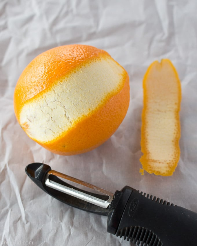 How to Make Candied Orange Peels step one