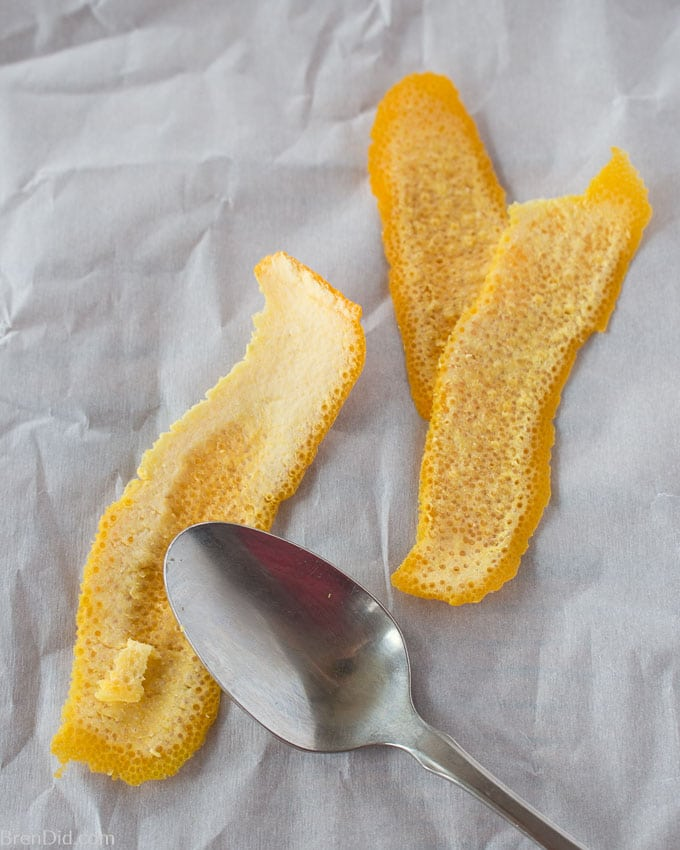 How to Make Candied Orange Peels step two