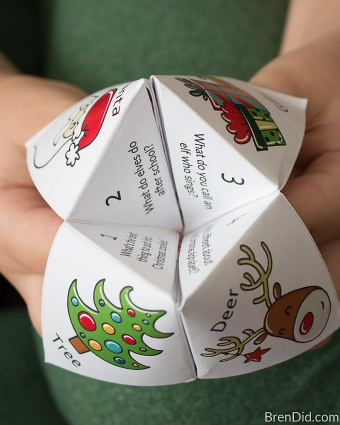 Christmas Joke Teller fortune teller numbers