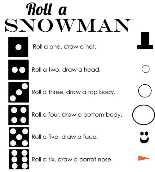 Class Party Ideas roll a snowman