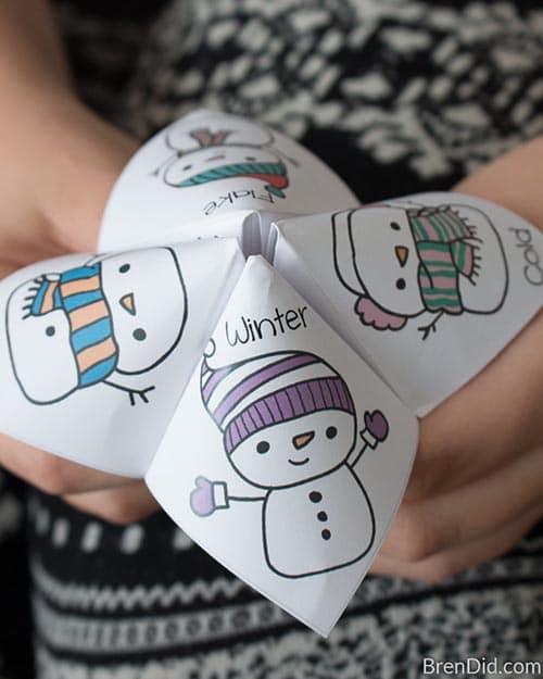 Class Party Ideas Snowman Joke Tellers