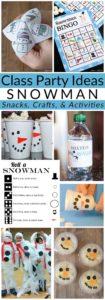 Class Party Ideas snowman pin