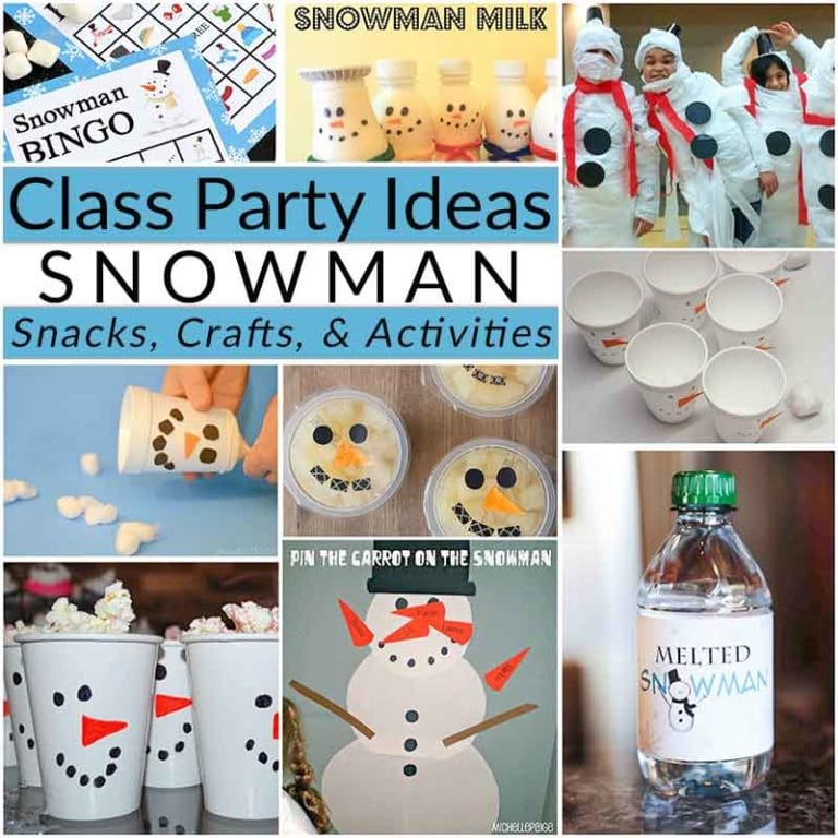 Class Party Ideas snowman collage