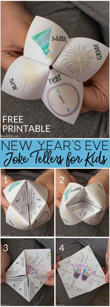 New Year's Eve Joke Teller Pin