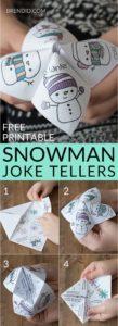 Snowman Joke Tellers Pin