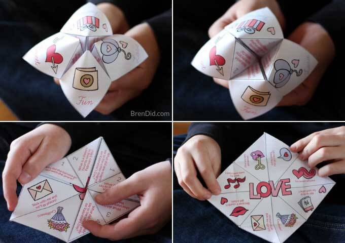 Valentine joke teller being played