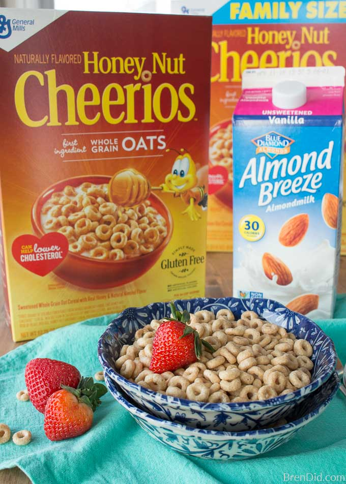 Honey Nut Cheerios with BlueDiamond Almondmilk Best Friend Cards