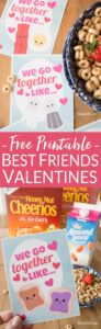 free printable best friend cards pin