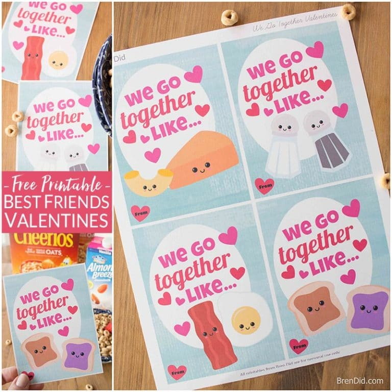 Breakfast BFFs & Free Printable Best Friend Cards - Bren Did