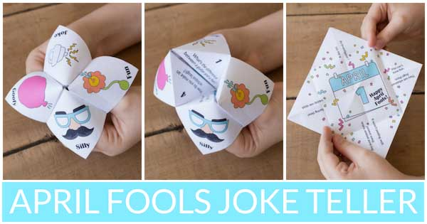 April Fools Day Joke Teller Collage