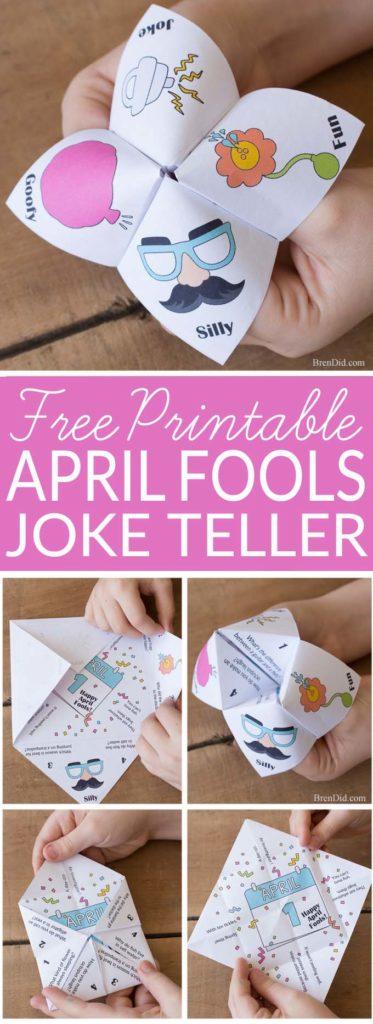 April Fools Day Joke Teller collage