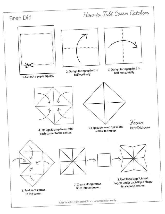 Joke Teller Folding Instructions
