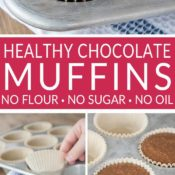 Chocolate Oatmeal Muffins Pin