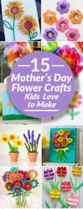 Mothers Day Flowers crafts collage