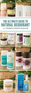 Natural Deodorant Collage