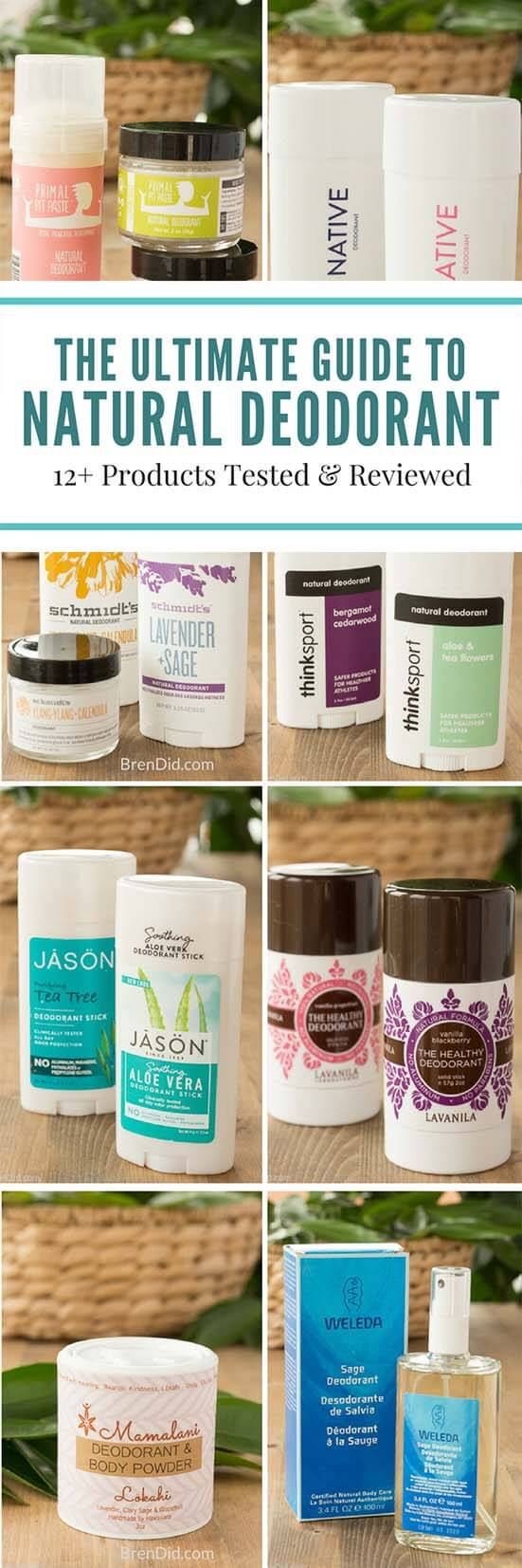 12 natural deodorant products tested and reviewed. Learn why you should ditch antiperspirant and which natural deodorants keep you healthy and smelling sweet. Plus the most effective natural deodorants tested and rated. | Natural deodorant that works, natural deodorant brands, natural deodorant for kids, natural deodorant for women, #allnaturaldeodorant, #naturaldeodorant, #nontoxicskincare #organicdeodorant #bodycare #naturalbeauty