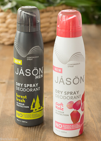 Jason deodorant 2 sprays