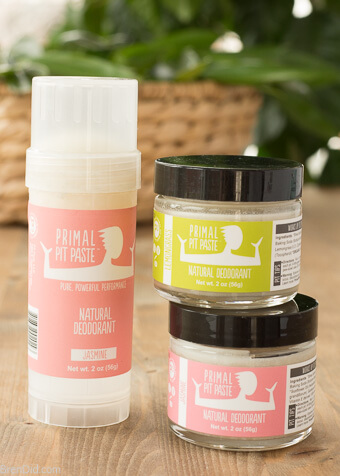 Primal Pit Paste Deodorant 2 sticks 1 jar