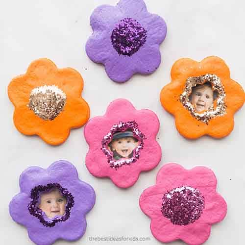 flowers made from salt dough