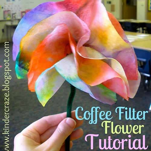 flowers made from coffee filters