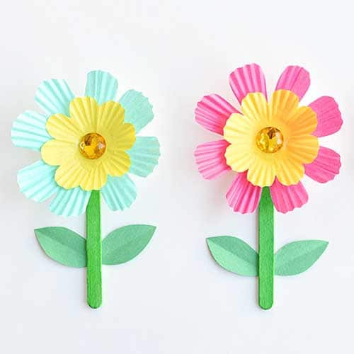 flowers made from cupcake wrappers
