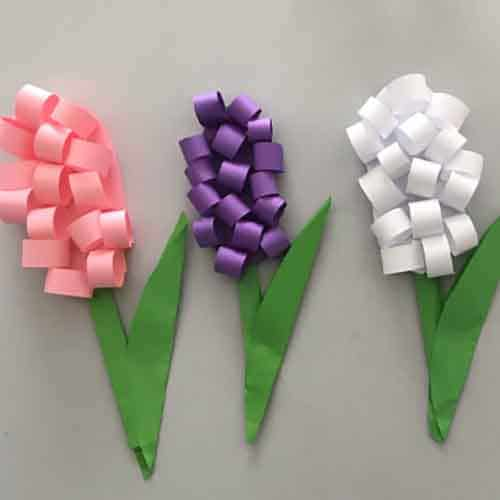 flowers made from colored paper