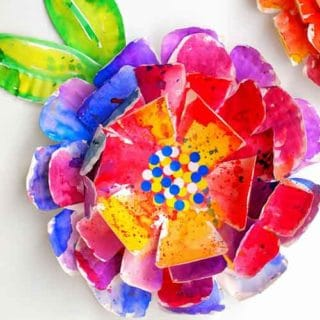 flowers made from paper plates