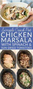 Crock Pot Chicken Marsala pin