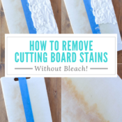 remove stains from cutting board pinterest image
