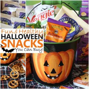 healthy halloween snack collage square