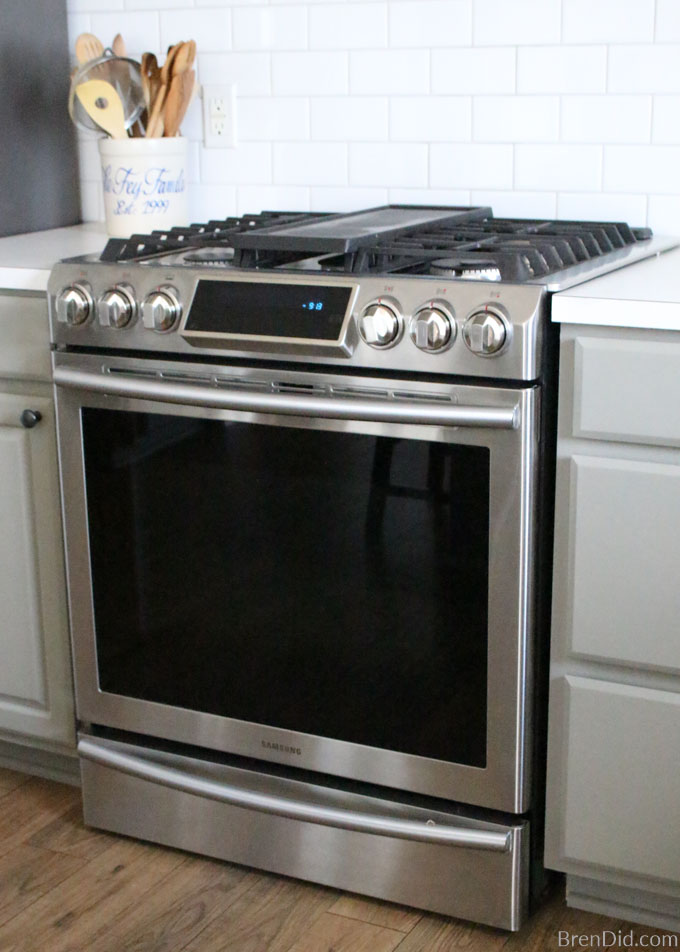 clean stainless steel oven