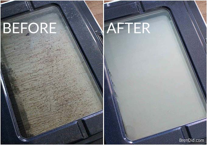 oven cleaner before and after photo
