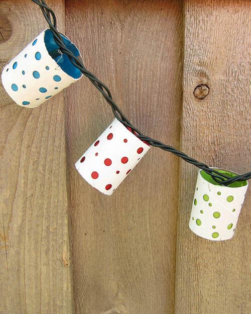 diy lanterns with toilet paper rolls