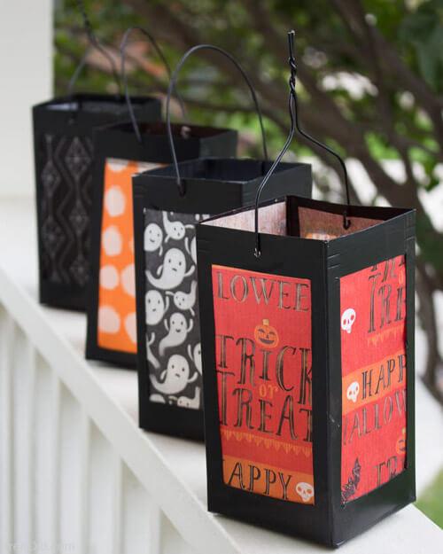 diy lanterns with milk cartons