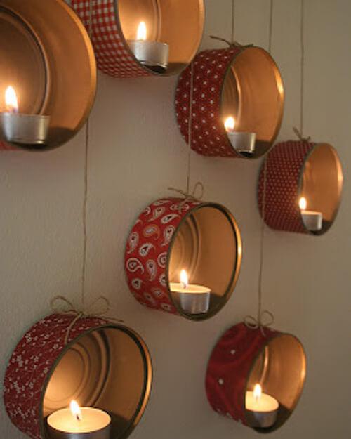 diy lanterns with tuna cans