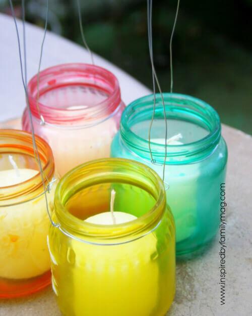 diy lanterns with baby food jars