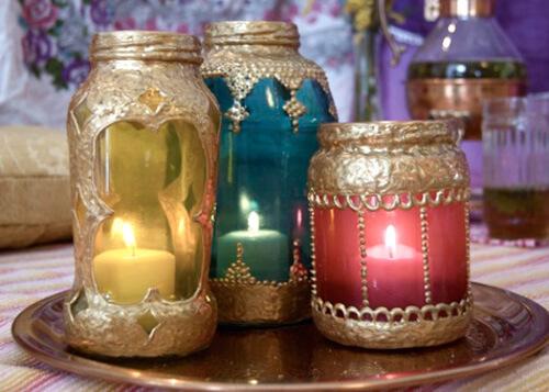 diy lanterns with jars