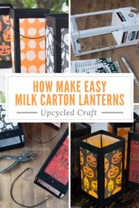 Milk Carton Lantern Collage