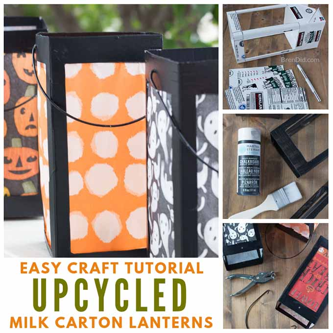 How to Make Paper Lanterns from Milk Cartons - Bren Did