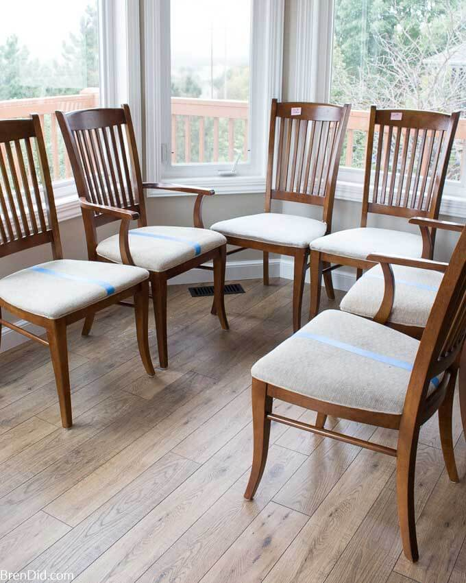 Chairs During Upholstery cleaning test