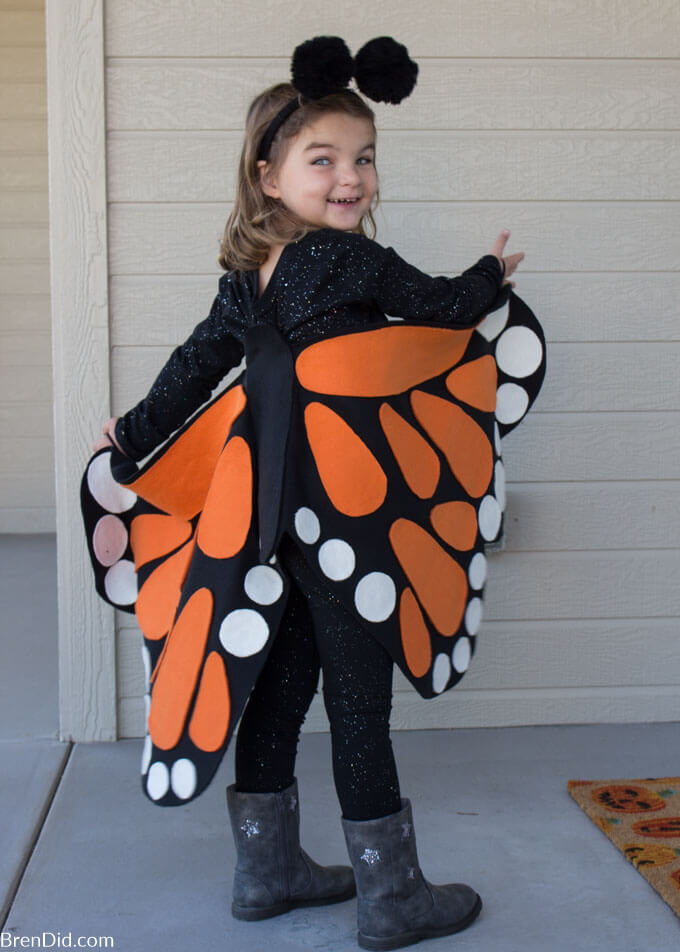 butterfly costume on toddler