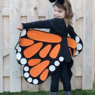 butterfly costume side view
